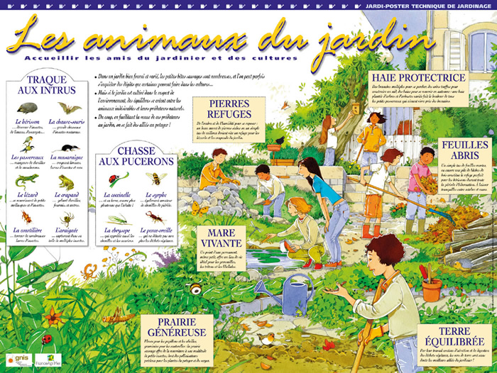 Semencemag jardi poster les animaux du jardin - Les animaux du jardin ...