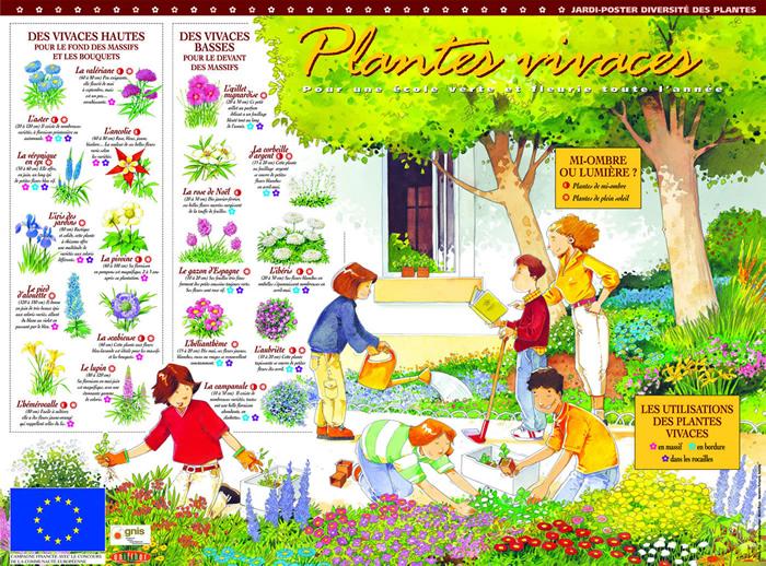 semencemag jardi poster plantes vivaces pour une cole verte et fleurie toute l 39 ann e. Black Bedroom Furniture Sets. Home Design Ideas